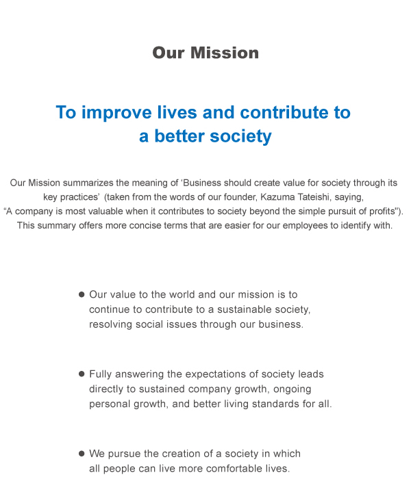 Our Mission(社憲